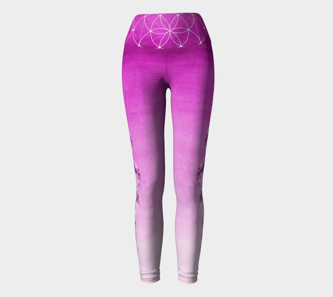 Purple ombre gradient moon phase leggings preview #2