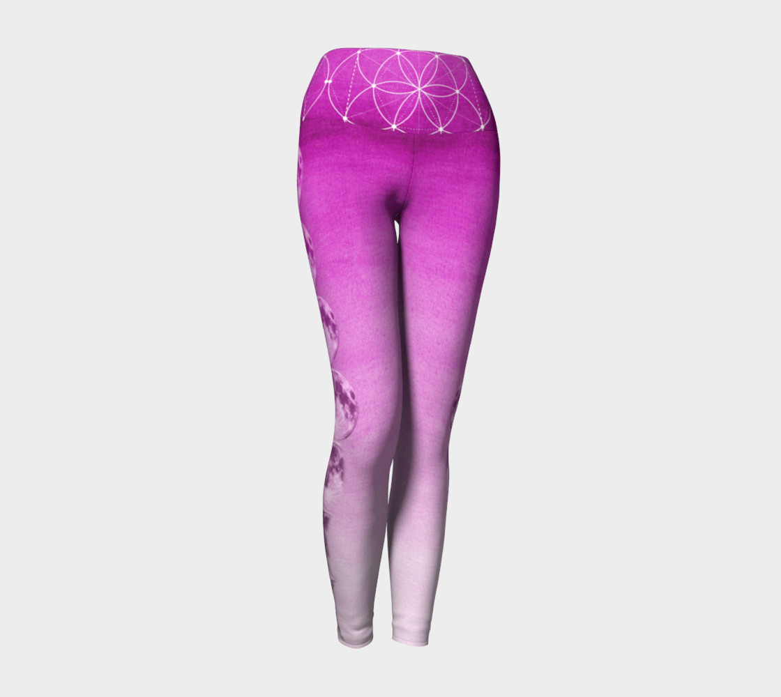 Purple ombre gradient moon phase leggings preview #1