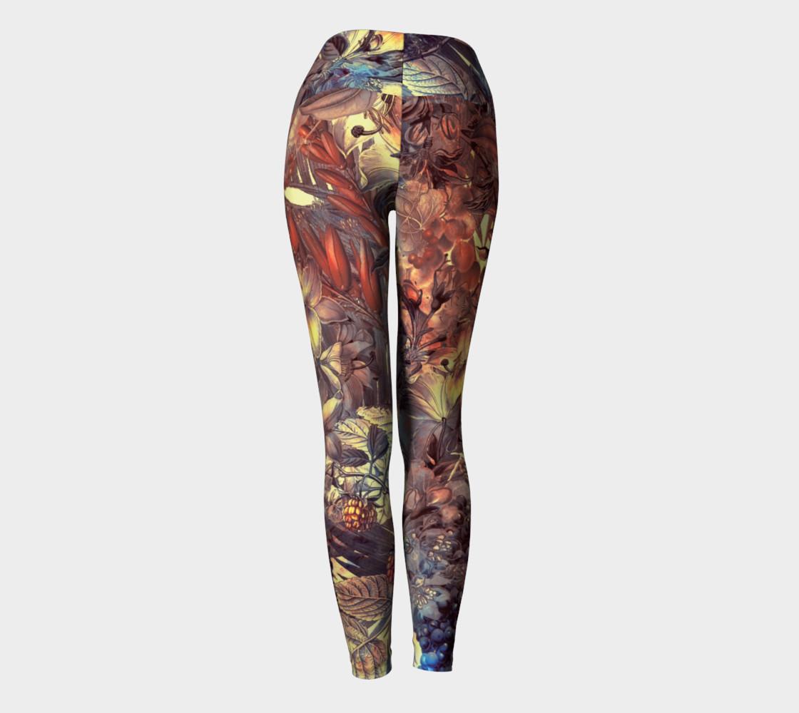 yoga leggings magic flowers preview #4