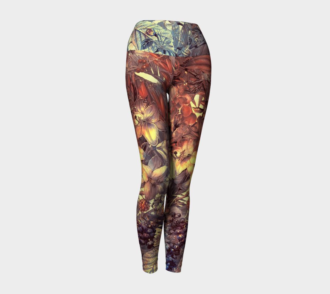 yoga leggings magic flowers preview #1