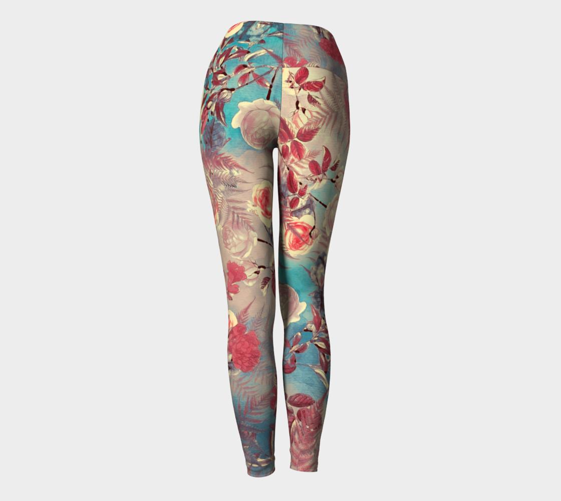 yoga leggings light flowers preview #4