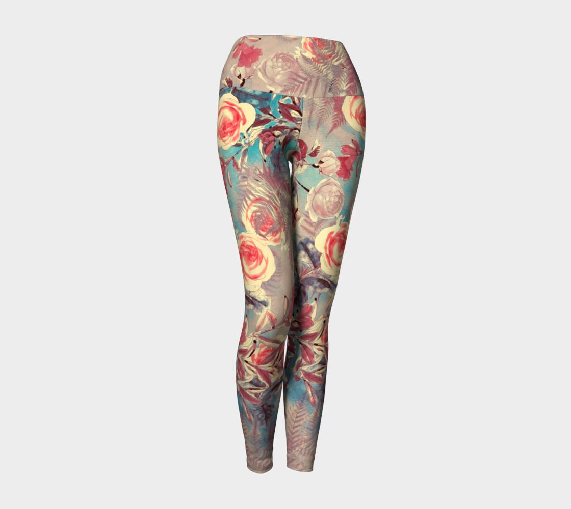 yoga leggings light flowers preview #1