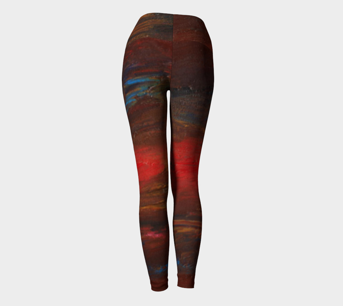 Crimson Ocean Yoga Leggings preview #4