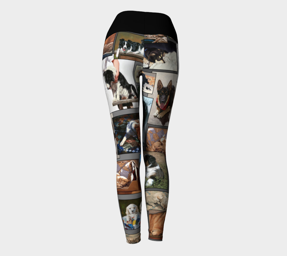 Dogs Yoga Leggings preview #4