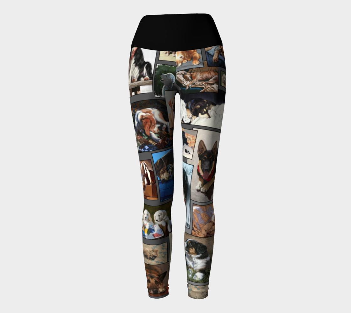 Dogs Yoga Leggings thumbnail #3