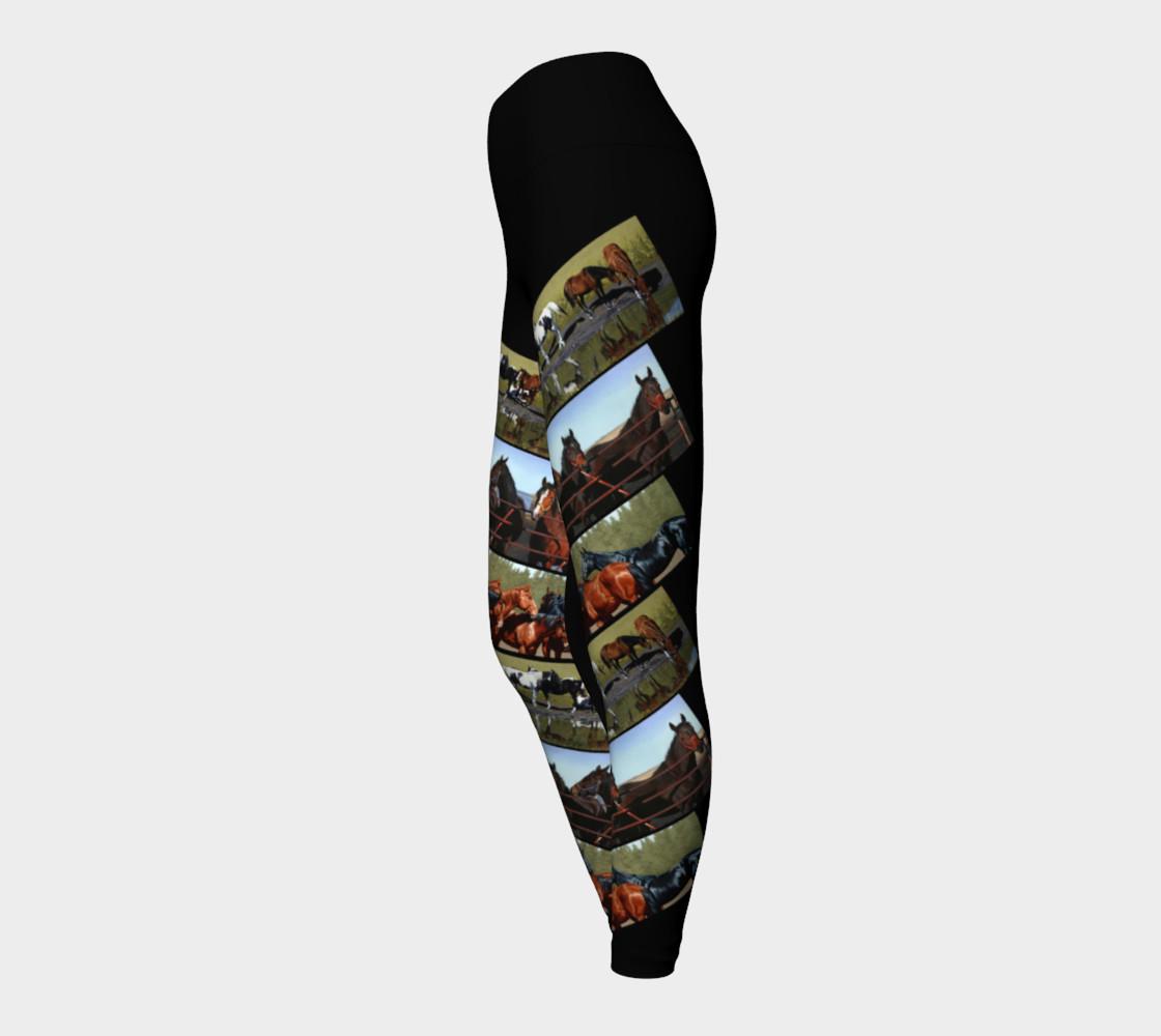 Yoga Leggings Horses Diagonal preview #3