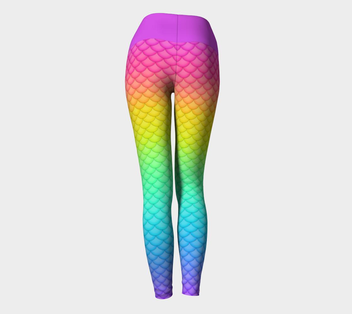 Neon Mermaid Yoga Leggings preview #4