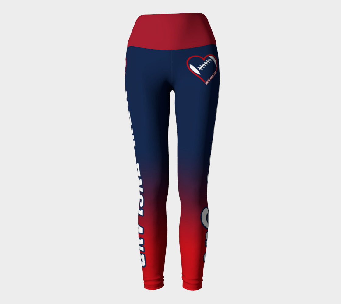Aperçu de New England Football Lovin' Girl Leggings #2