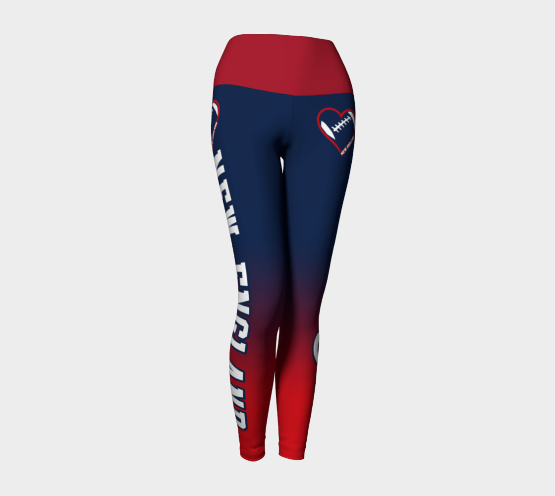 Aperçu de New England Football Lovin' Girl Leggings #1