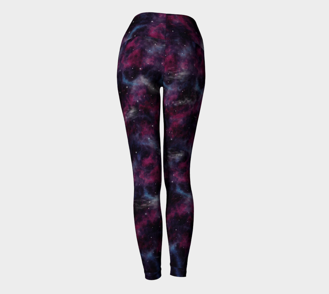 Aperçu de Deep purple space leggings #4