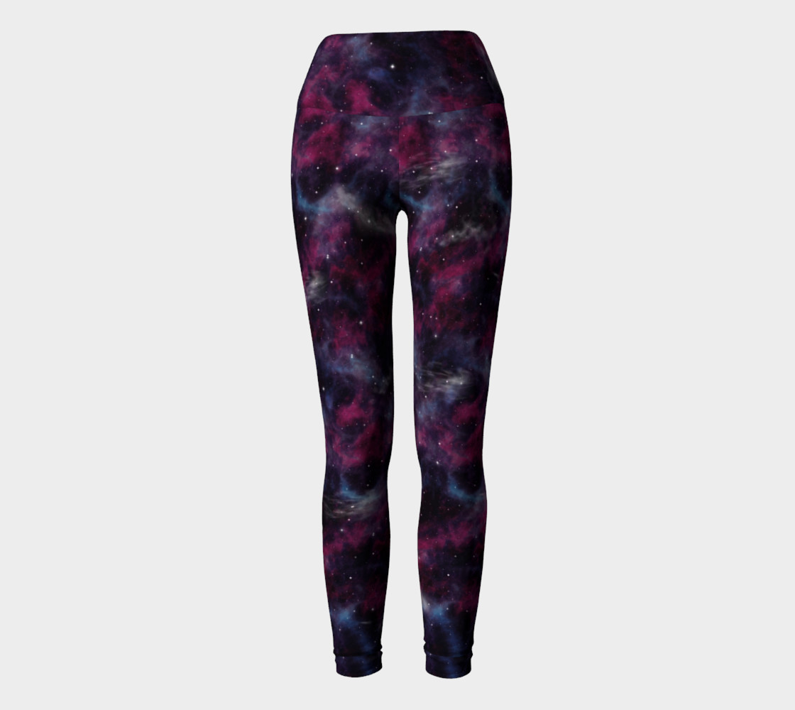 Aperçu de Deep purple space leggings #2
