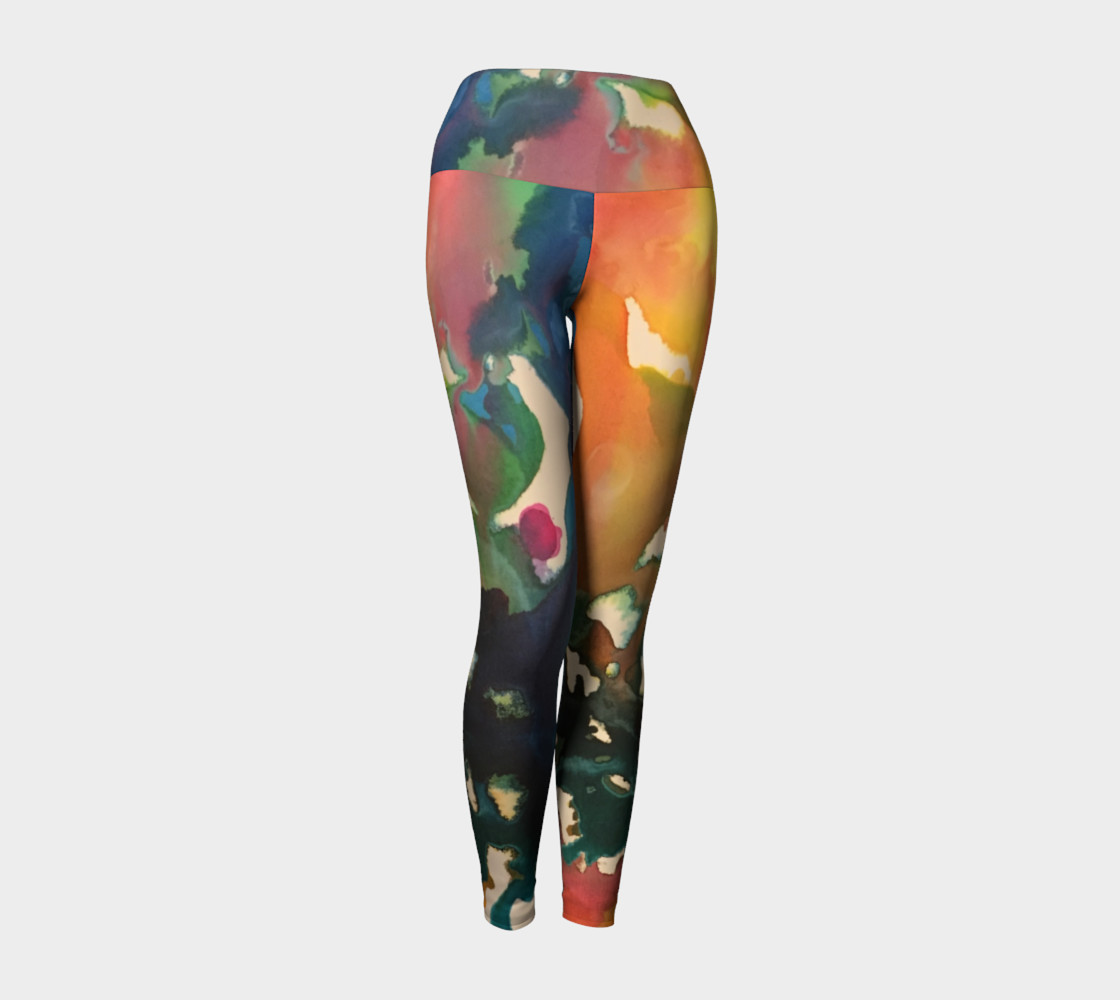 In Streams of Light Yoga Legging 3D preview