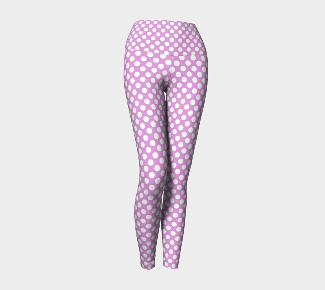 Polka Dots Pattern-Violet Yoga Leggings 3D preview