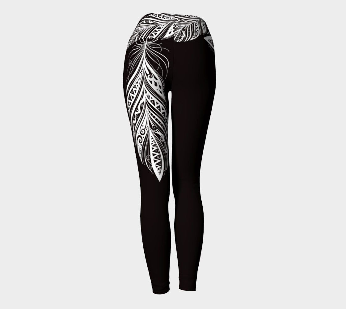 Black and White Bohemiam Free Spirit Yoga Pants preview #4