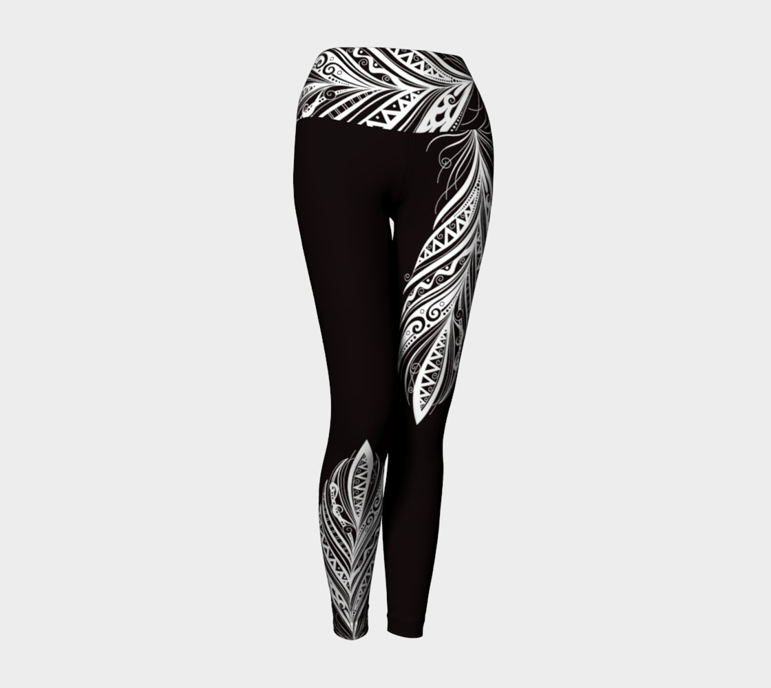 Black and White Bohemiam Free Spirit Yoga Pants preview #1