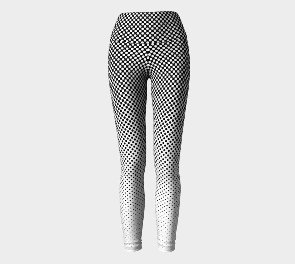 Modern Halftone Dots Slimming B&W Contrast  preview #2
