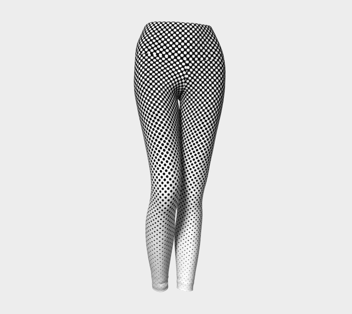 Modern Halftone Dots Slimming B&W Contrast  preview #1
