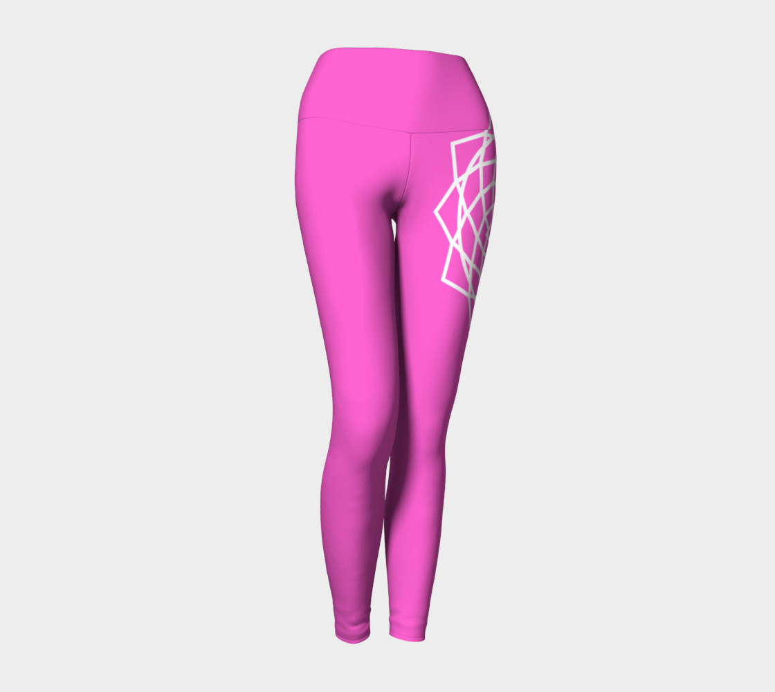 Chakra Yoga Leggings Pink and White preview #1