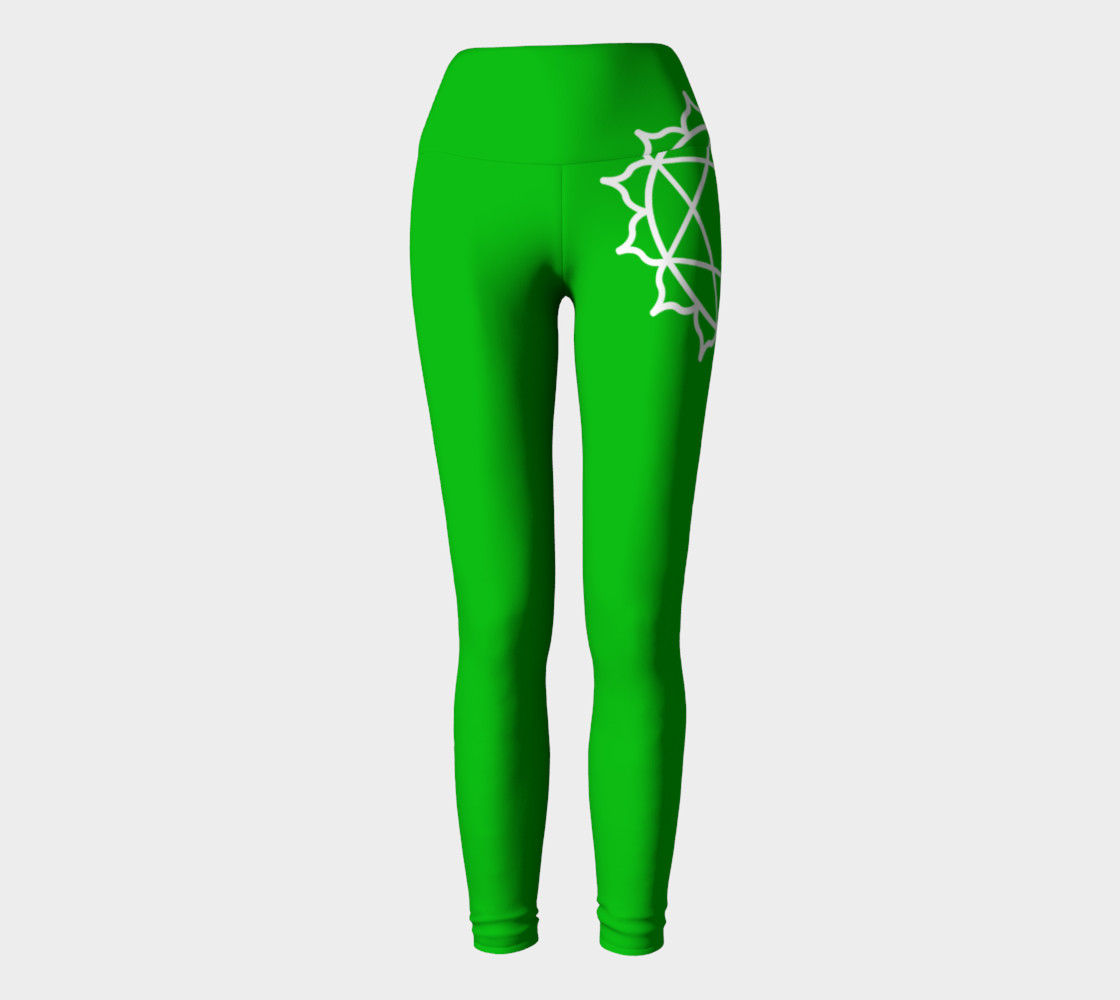Anahata Green Chakra Yoga pants leggings preview #2