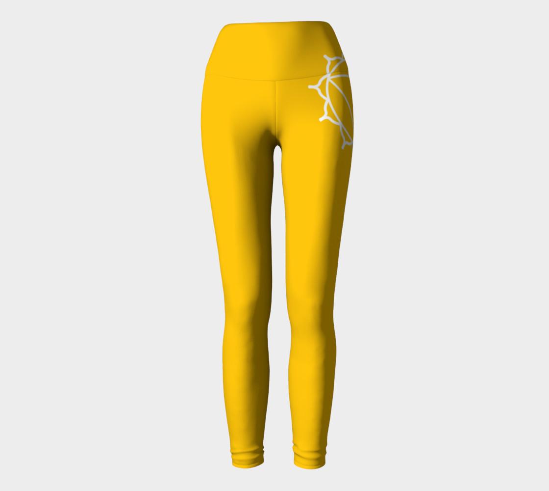 manipura Yellow and white leggings preview #2