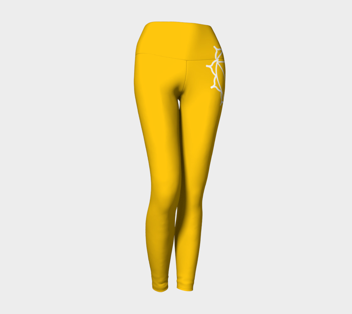 manipura Yellow and white leggings preview #1