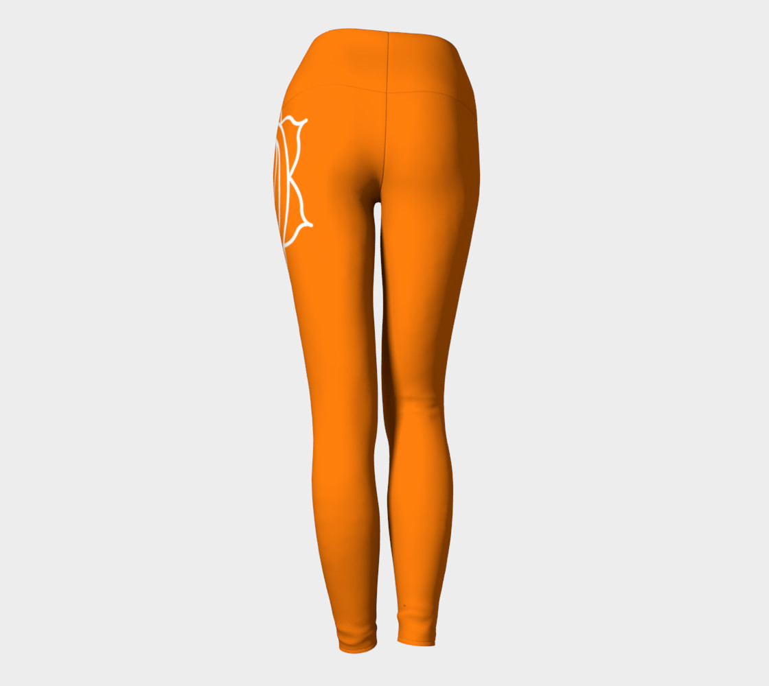 swadhithana orange and white chakra yoga pants leggings preview #4