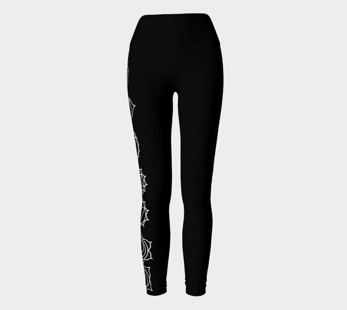 Aperçu de Chakra Black and White yoga pants leggings #2
