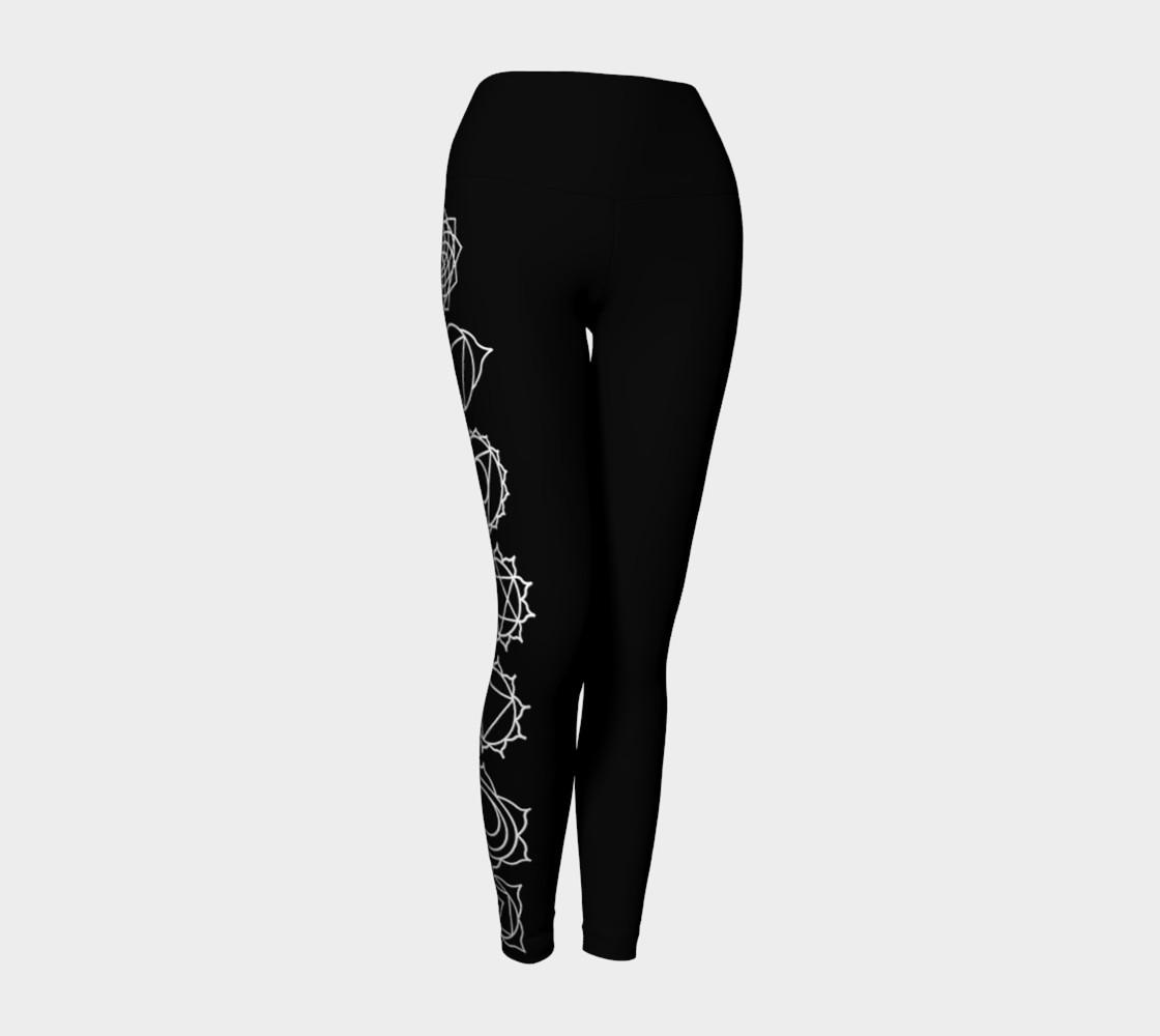 Aperçu de Chakra Black and White yoga pants leggings #1