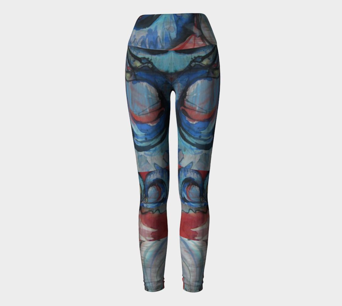 Flying Ocean Yoga Leggings preview #2