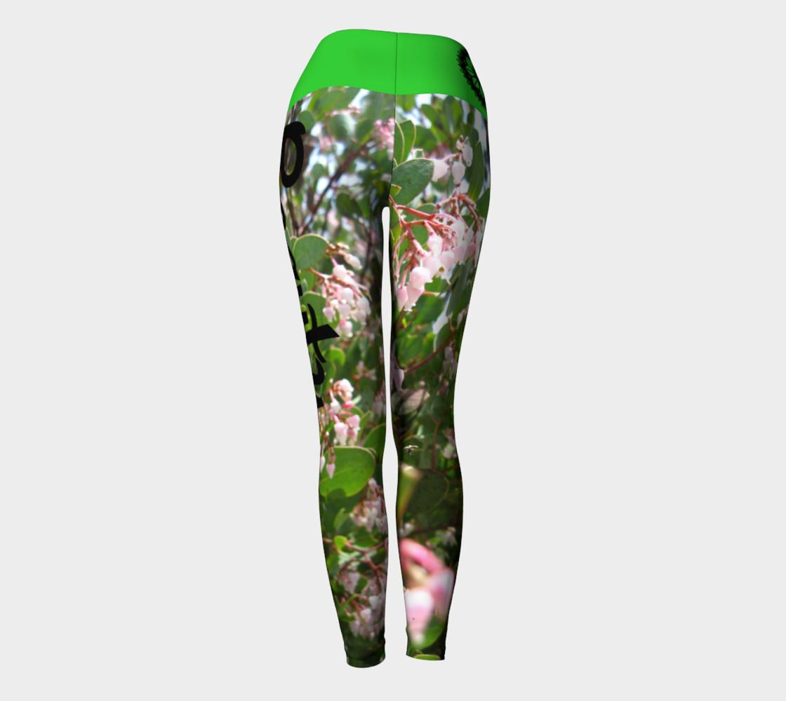 "Aperçu de Pink ""Wo""manzanita Yoga leggings #4"