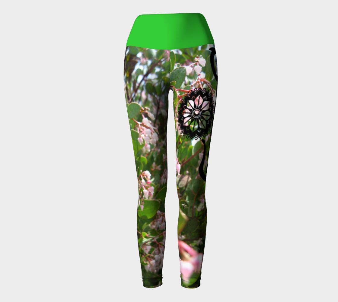 "Aperçu de Pink ""Wo""manzanita Yoga leggings #2"