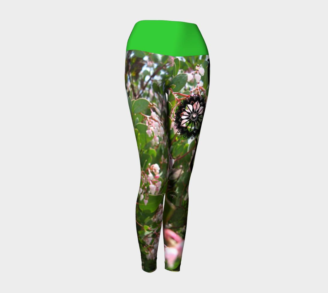 "Aperçu de Pink ""Wo""manzanita Yoga leggings #1"