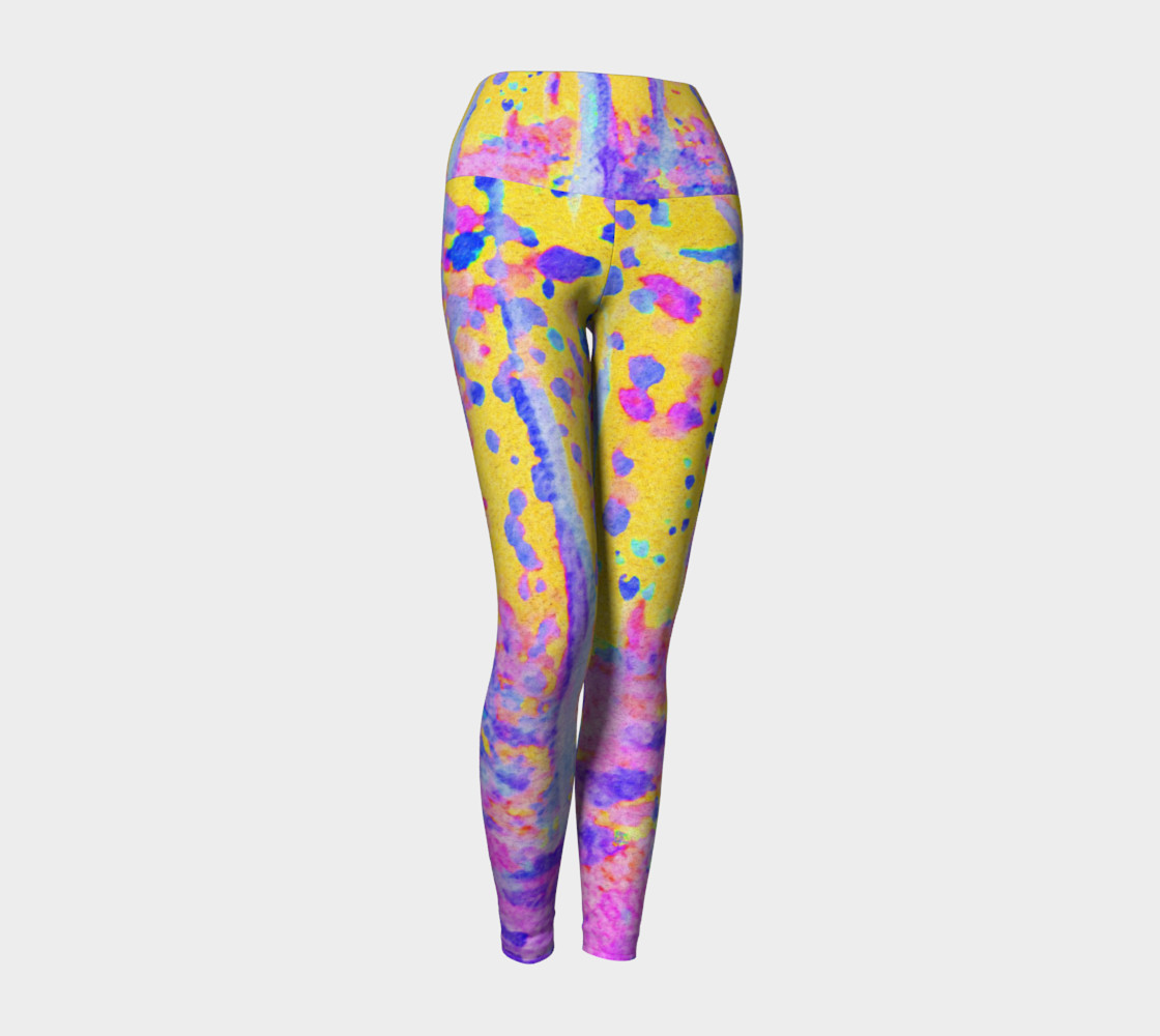 Yellow Magic Trees Yoga Leggings 3D preview