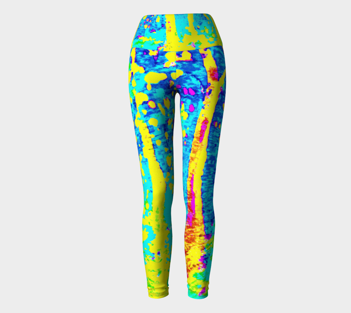Aperçu de Running Through Magic Trees Yoga Leggings #2