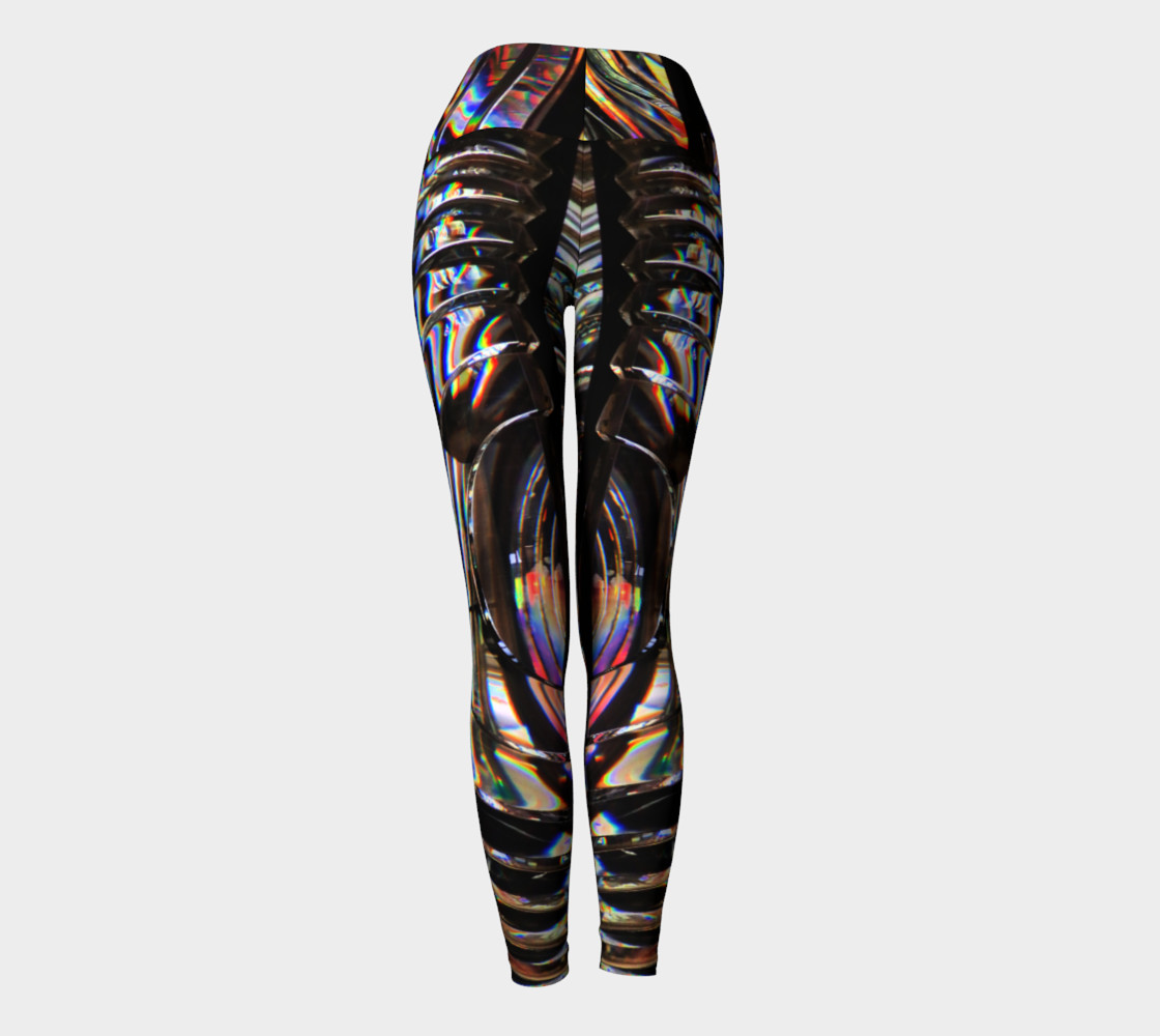 Psychedelic Cyborg Yoga Leggings preview #4