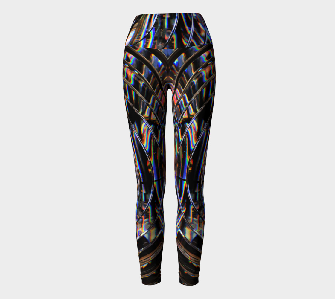 Psychedelic Cyborg Yoga Leggings preview #2