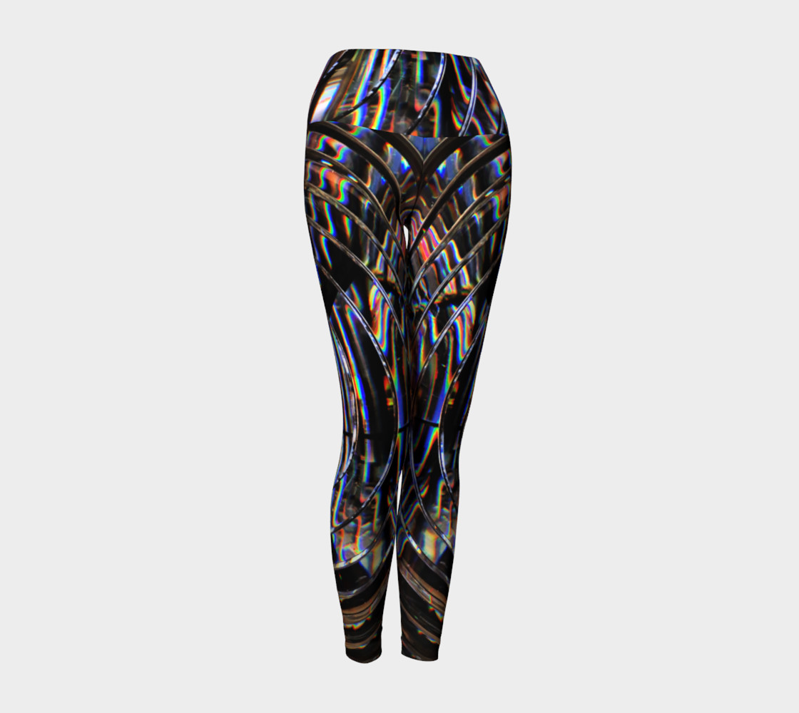 Psychedelic Cyborg Yoga Leggings preview #1