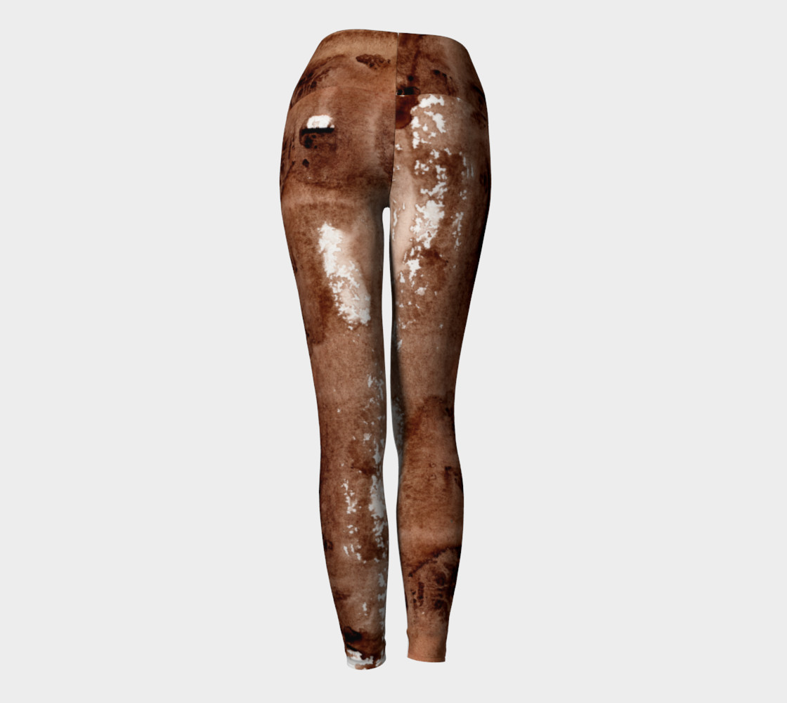 Aperçu de Abstract Yoga Pants Chocolate Fudge #4
