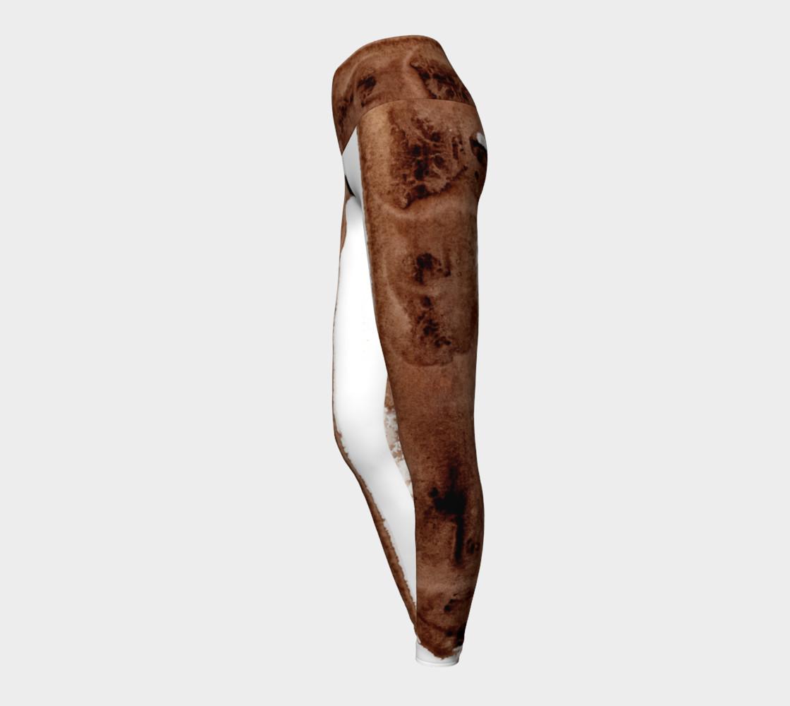 Aperçu de Abstract Yoga Pants Chocolate Fudge #3
