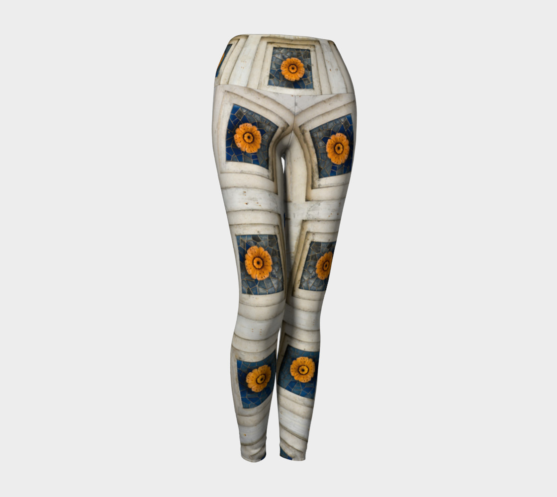 Ohio Stadium Facade Yoga Leggings 3D preview