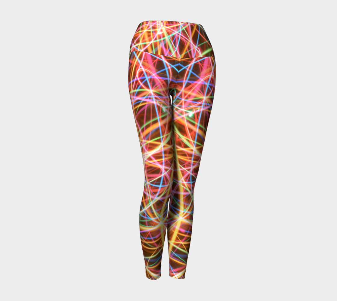 Christmas Light Trails Yoga Leggings preview #1