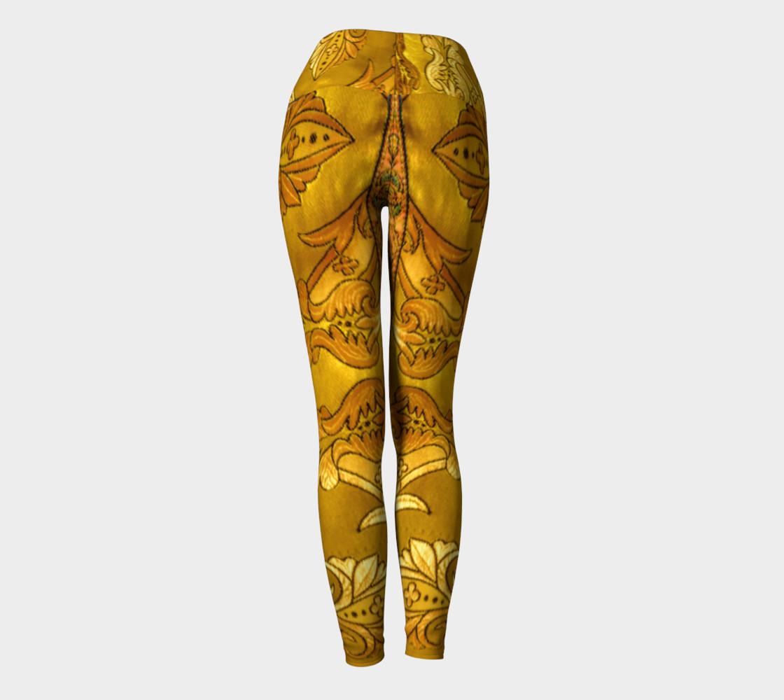 Golden Russian Robe Yoga Leggings preview #4