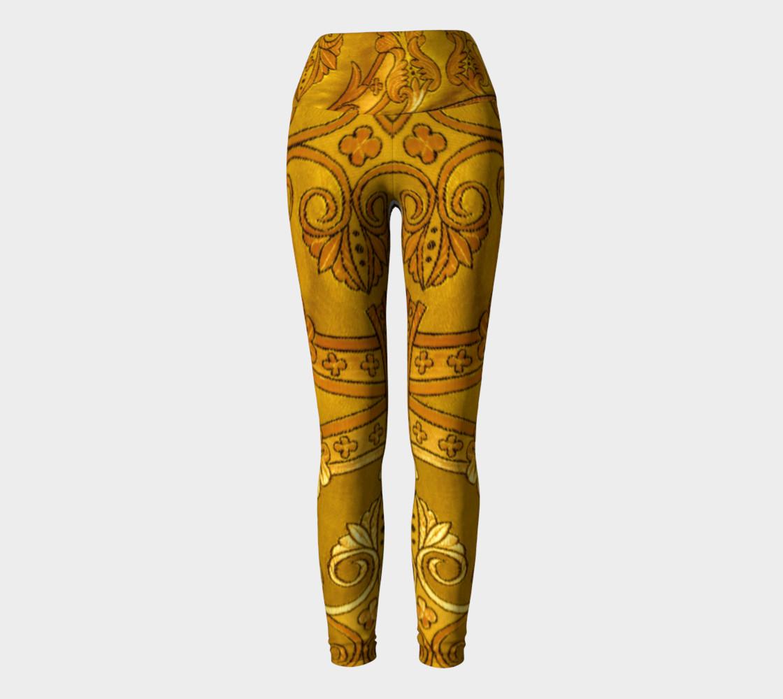 Golden Russian Robe Yoga Leggings preview #2