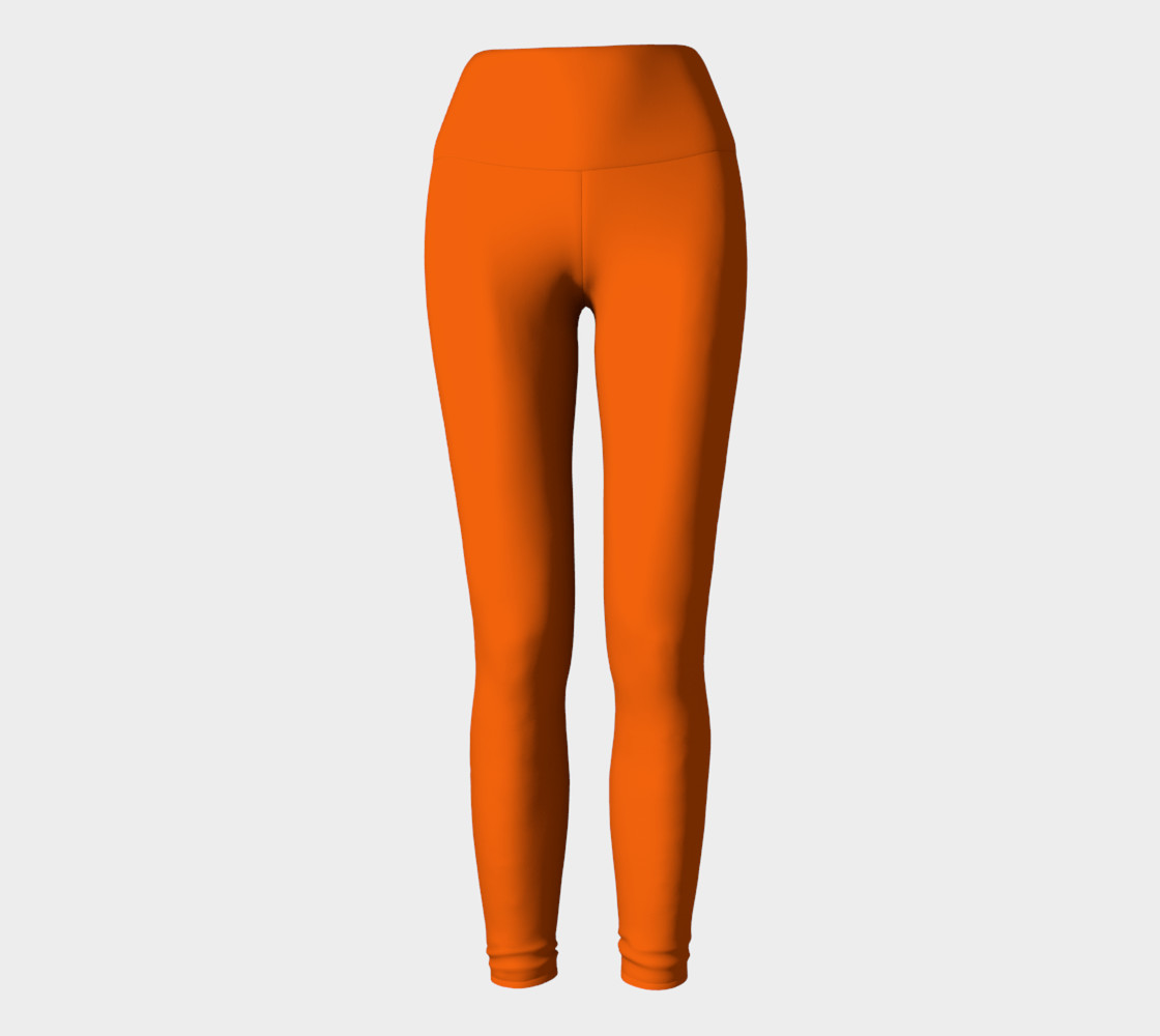 Juicy Orange Yoga Leggings preview #2