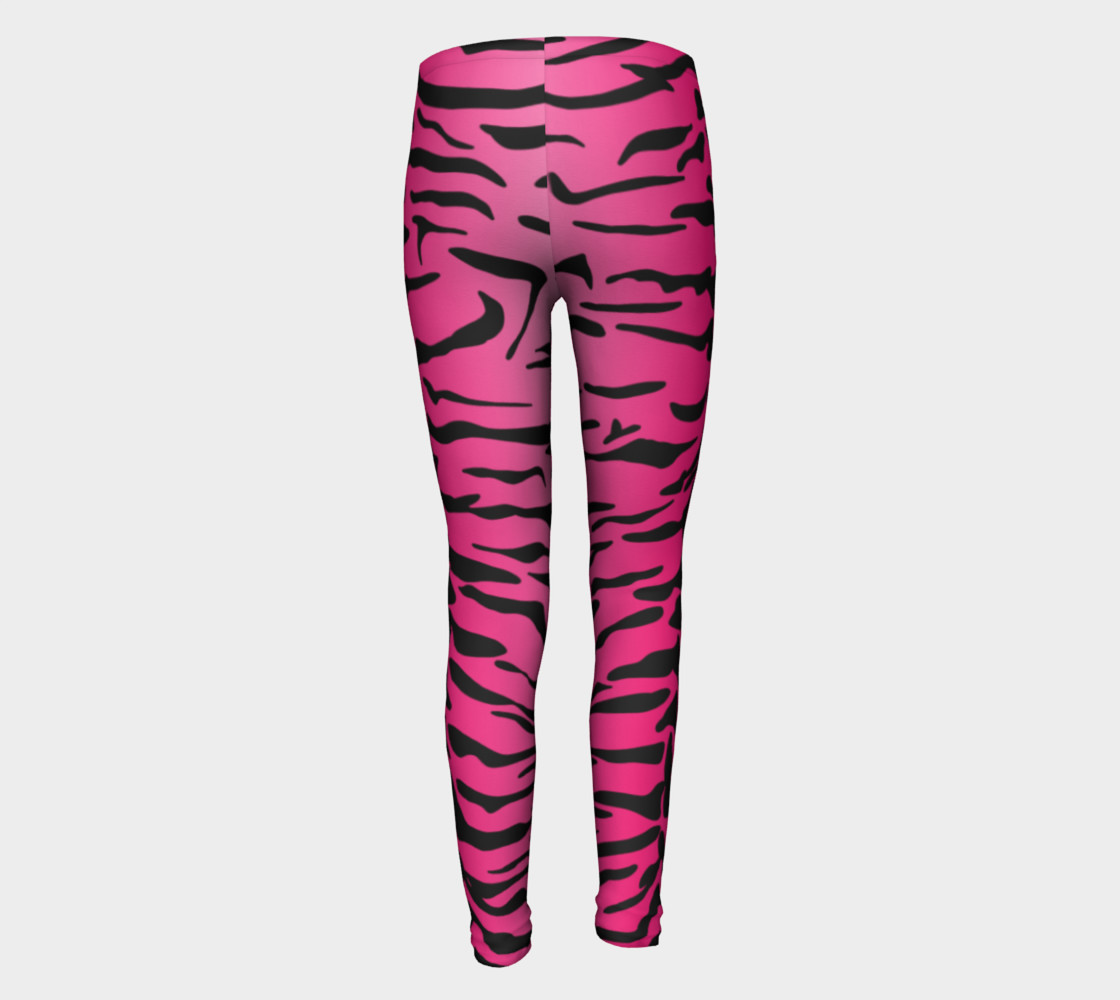 Pink Tiger Leggings Youth preview #5