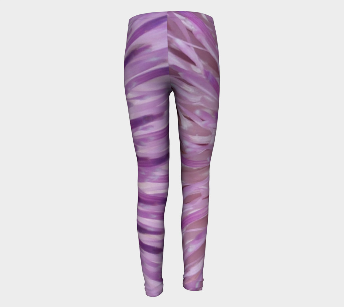 Purple Bud Explosion Youth Leggings preview #5