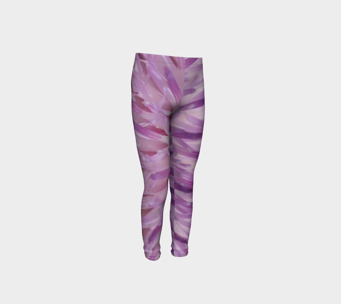 Purple Bud Explosion Youth Leggings preview #4