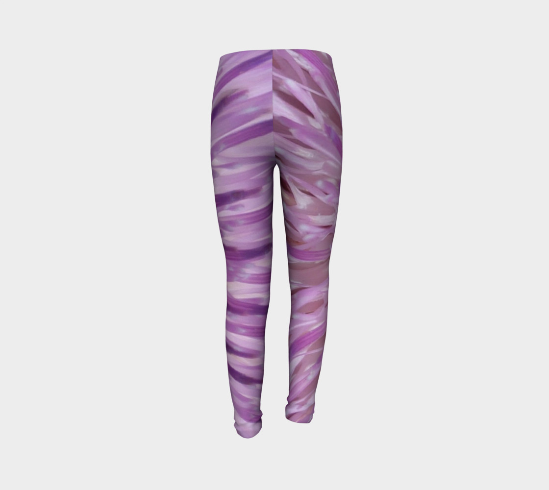 Purple Bud Explosion Youth Leggings preview #7
