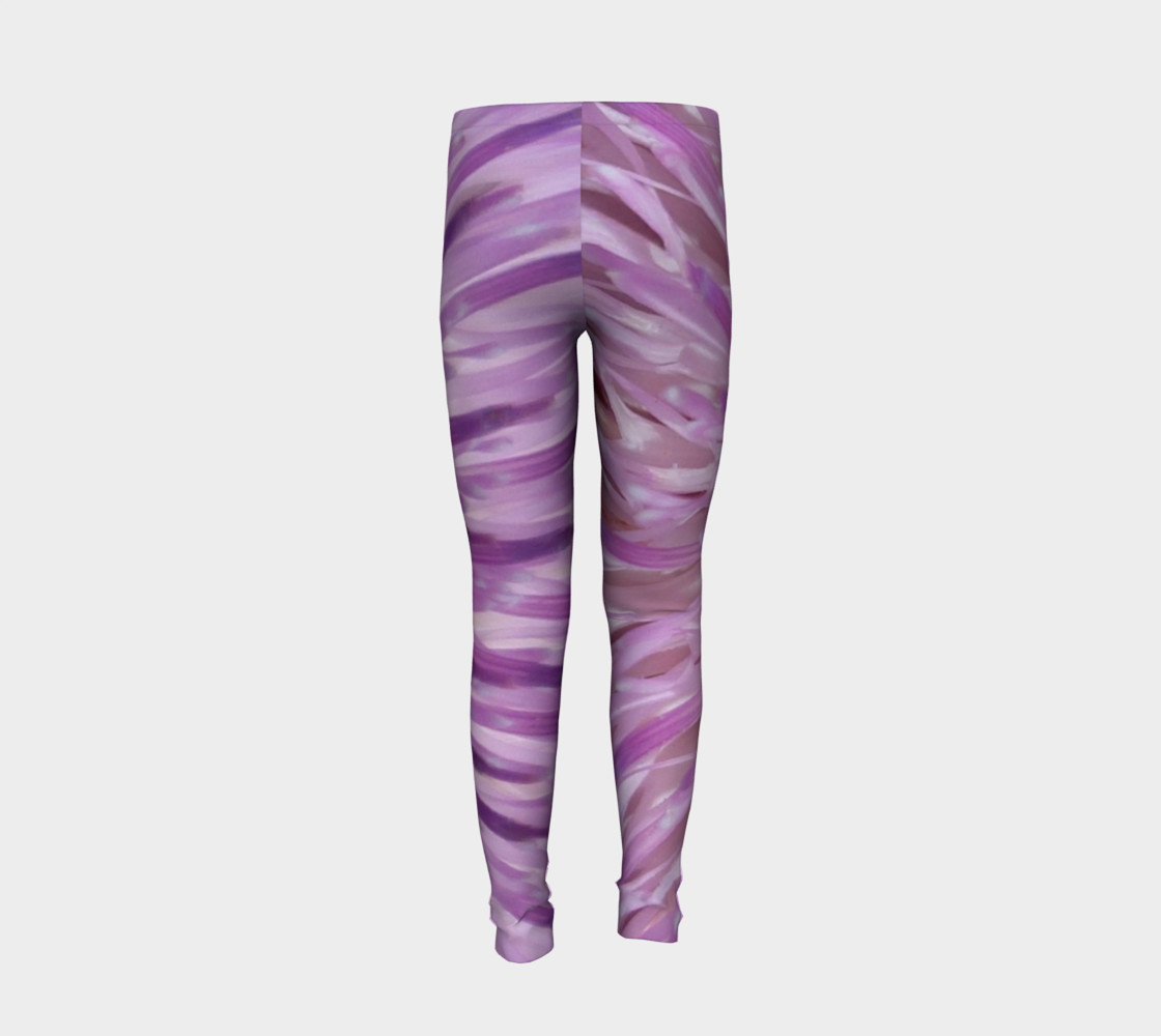 Purple Bud Explosion Youth Leggings preview #6