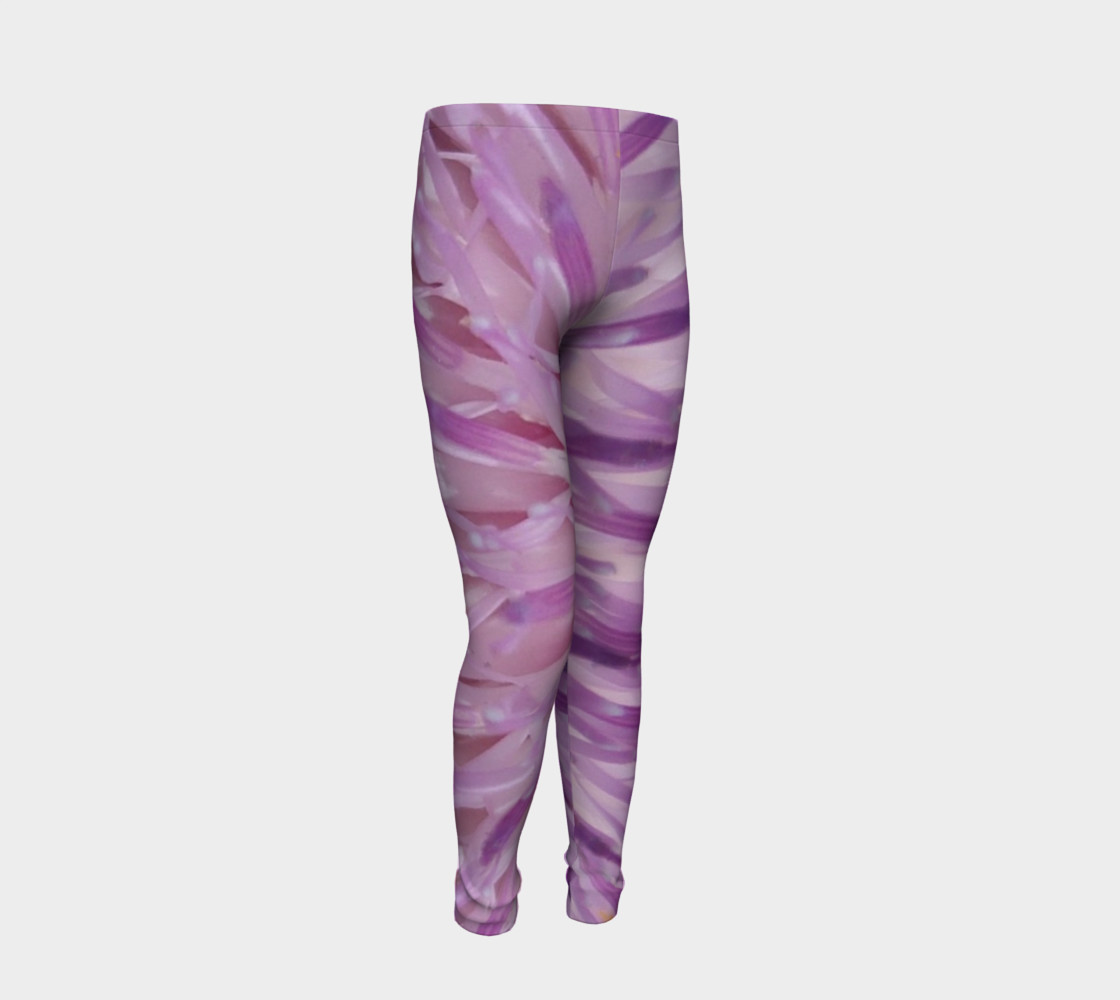 Purple Bud Explosion Youth Leggings preview #2
